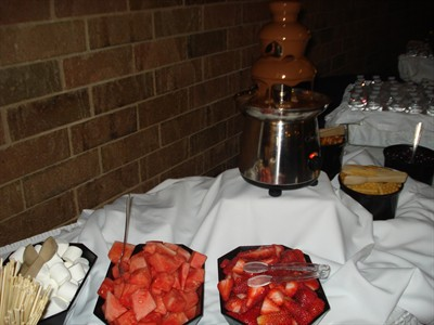 Chocolate Fountain with Fresh Fruit